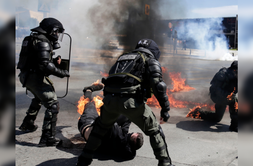 Clashes break out at student protest in northern Greek city