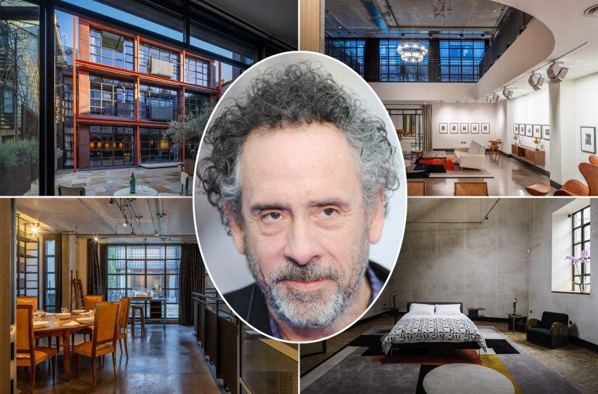Inside Tim Burton's London home where he created 'Dumbo'