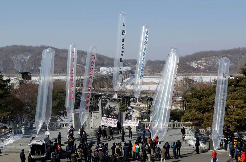 Activist says he flew 500K leaflets across Koreas' border
