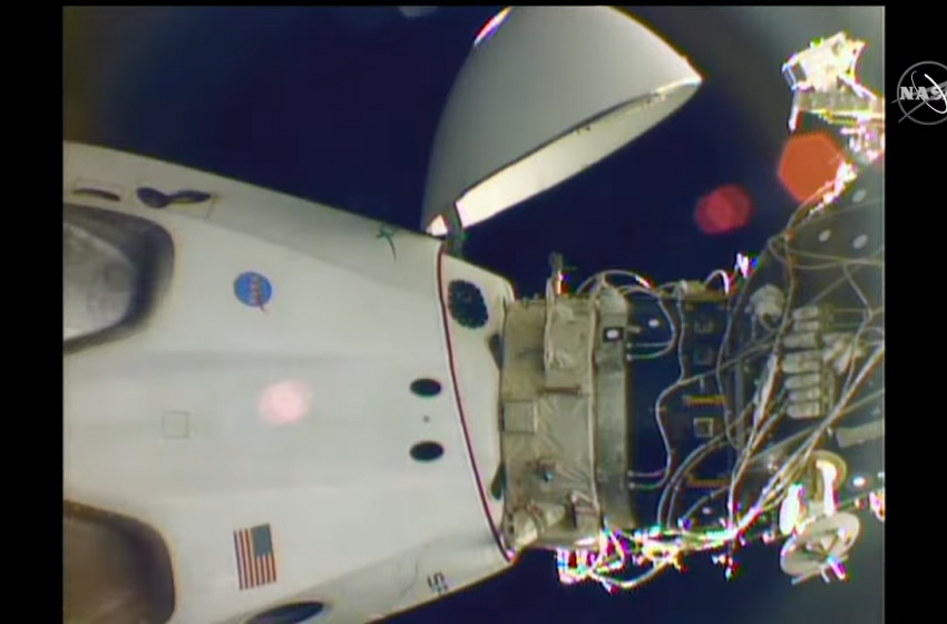 Four astronauts took a Dragon for a spin on Monday morning