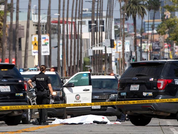 Three dead, including suspect, in 'random' string of LA car shootings