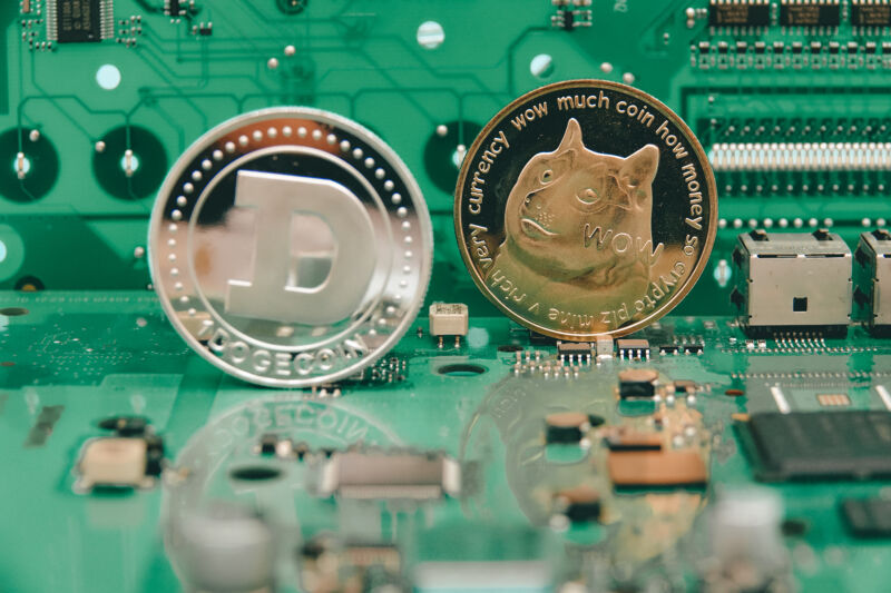 Dogecoin has risen 400 percent in the last week because why not