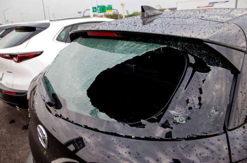 Fierce hail storms batter Texas, Oklahoma: 'Billion-dollar' damage likely from 'gargantuan' hail