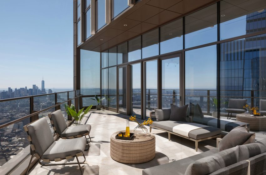 Penthouse with NYC's highest private terrace lists for $59M