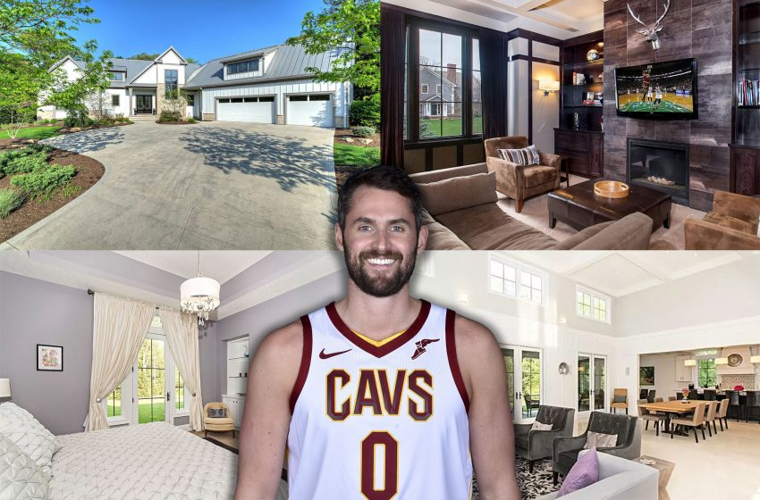 Inside Kevin Love's Ohio estate with heated floors and secret doors