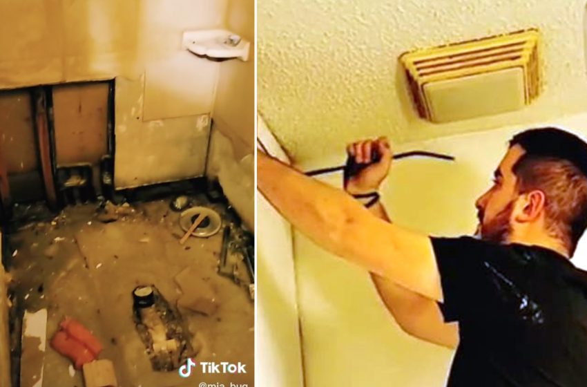 Couple discovers hidden bathroom during home renovation