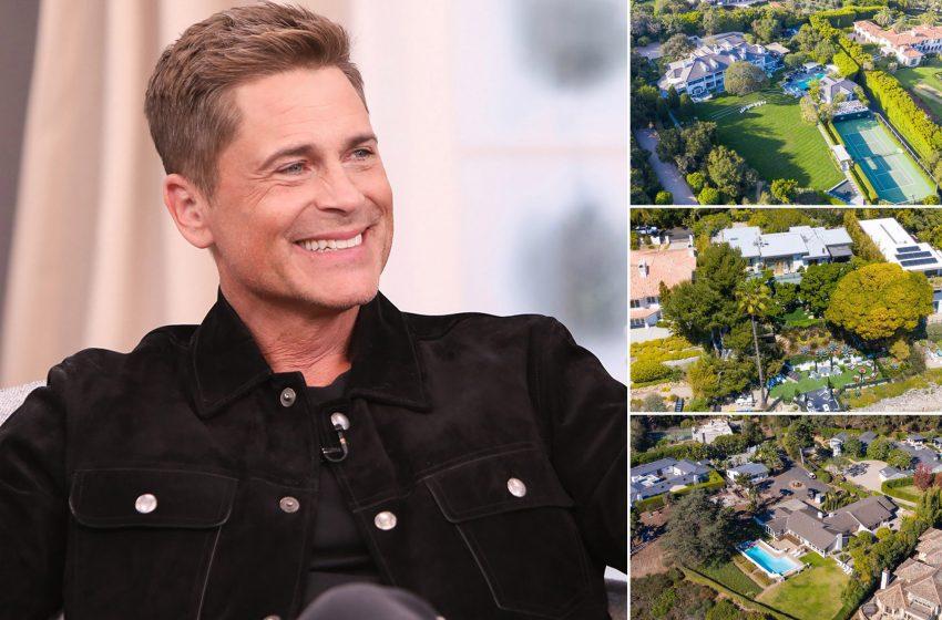 Rob Lowe just dropped $47 million on three Montecito, Calif., mansions