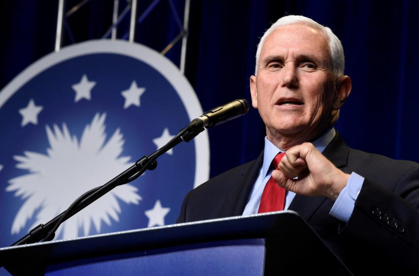 In 1st post-office speech, Pence lays down marker for 2024