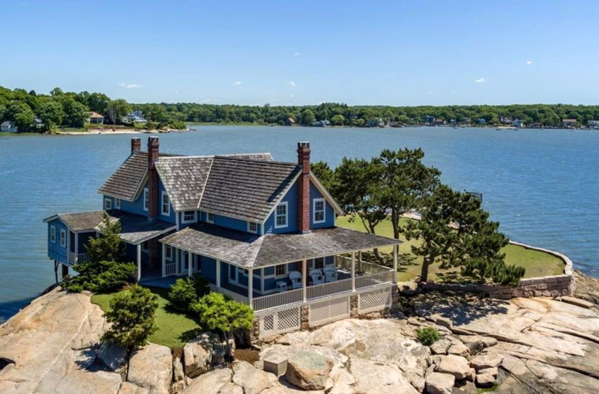Rare 'storybook home' on private island in Connecticut on sale for $1.3M
