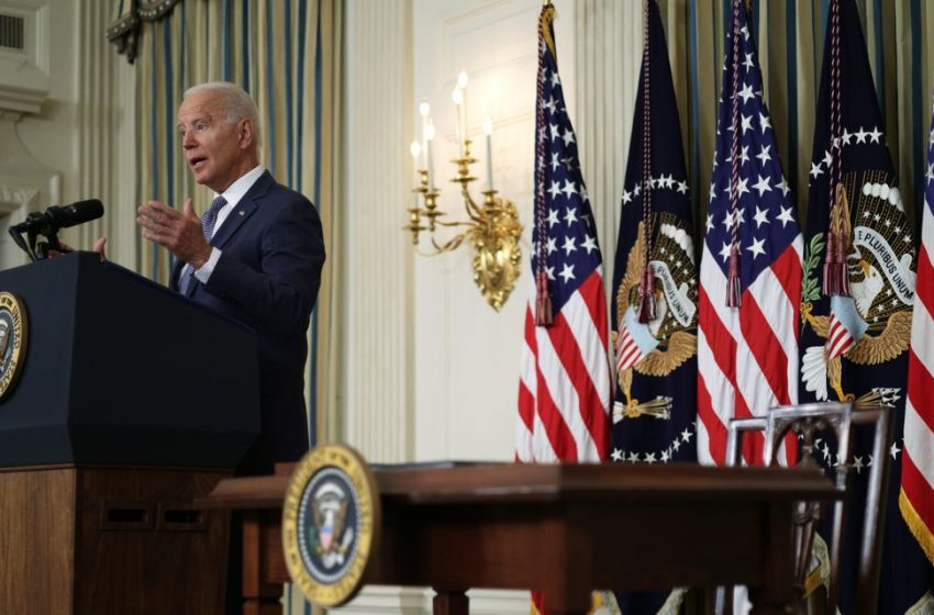 Biden Stakes Out Position in Debate Over Power of Big Companies