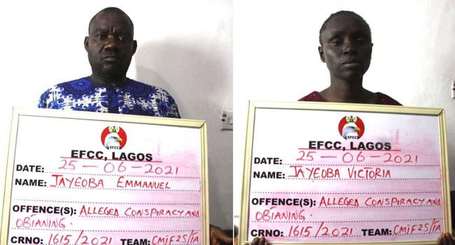 EFCC Arrests Couple Over Alleged N935m Ponzi Scheme In Lagos – Channels Television