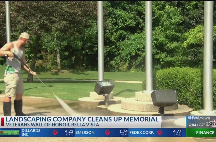 Business helps maintain veterans memorial