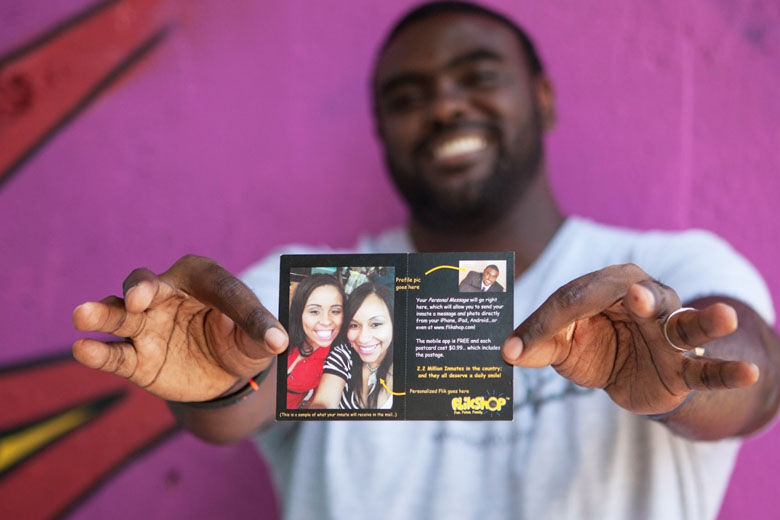 Former prison inmate turned entrepreneur launches postcard business for those behind bars