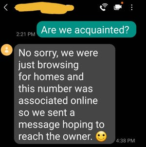 Sylvia text offers likely a phishing scam amid hot real estate market