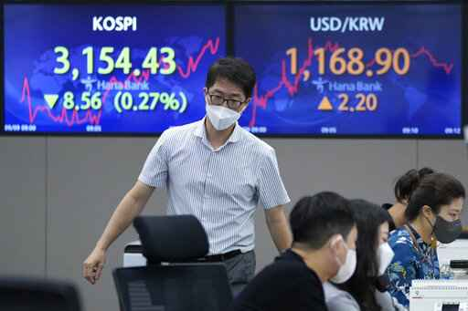 Asian shares slip as Fed signals 'downshift' in economy
