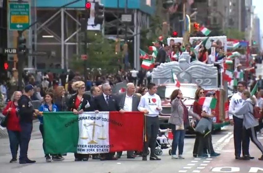 As usual, politics on display at New York City Columbus Day Parade
