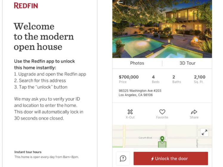 Redfin partners with security giant ADT for program that lets buyers tour homes without an agent
